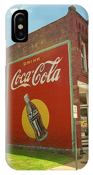 Route 66 - Coca Cola Ghost Mural IPhone Case