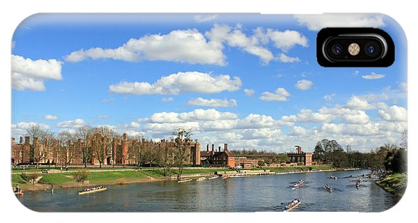 Rowing On The Thames At Hampton Court IPhone Case