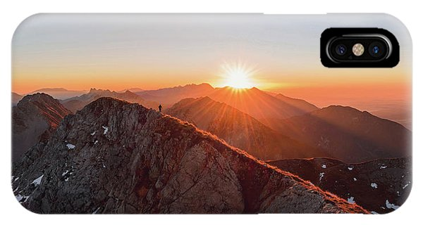 Running On The Ridge IPhone Case