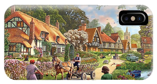 English Village iPhone Case - Rural Life by MGL Meiklejohn Graphics Licensing