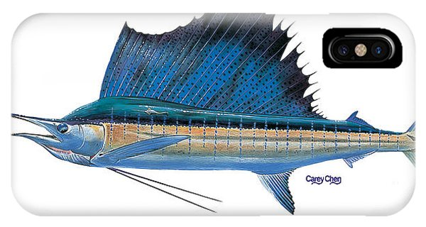 Reel iPhone Case - Sailfish by Carey Chen