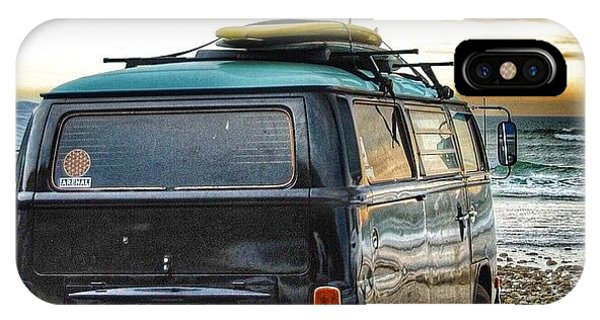 Vw Bus iPhone Case - Sano Surf Bus And Boards by Hal Bowles