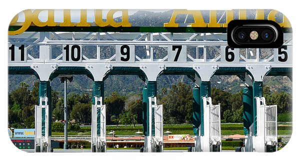 Santa Anita Starting Gate IPhone Case