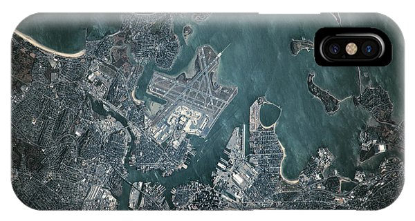 International Space Station iPhone Case - Satellite View Of Boston by Panoramic Images