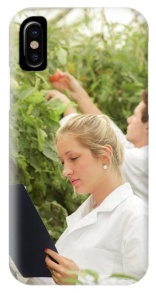 Scientists Examining Tomatoes IPhone Case