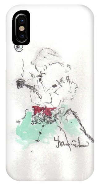 IPhone Case featuring the mixed media Scrooge by Laurie Lundquist