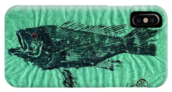 Sea Bass On Aegean Green Thai Unryu Paper IPhone Case