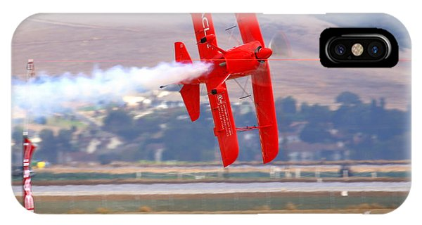 Sean Tucker Cuts The Ribbon In His Oracle Challenger At Salinas Ksns Airshow Phone Case by John King