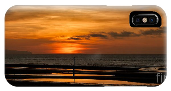 Tidal iPhone Case - Seascape Sunset  by Adrian Evans