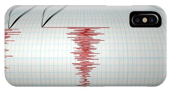 Seismograph Earthquake Activity IPhone Case