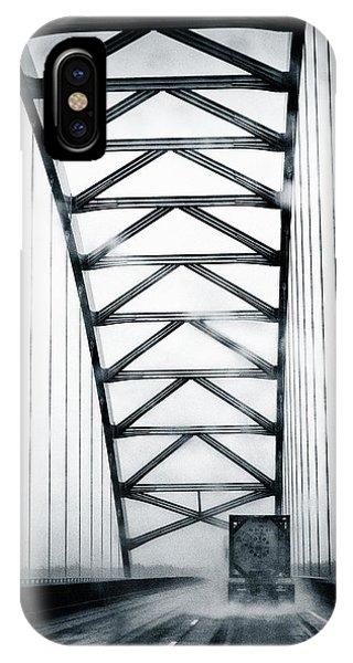 Semi On A Bridge In The Rain IPhone Case