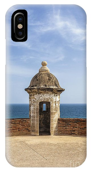 IPhone Case featuring the photograph Sentry Box In Old San Juan Puerto Rico by Bryan Mullennix