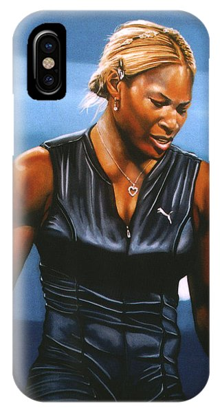 Players iPhone Case - Serena Williams by Paul Meijering