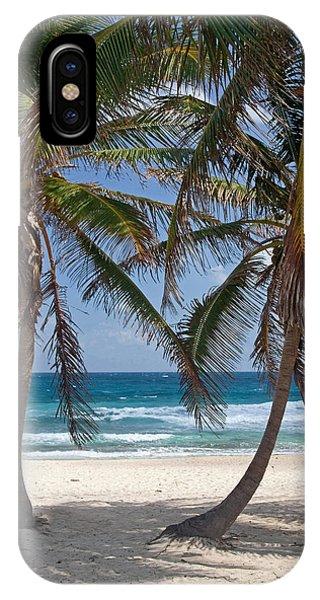 Serene Caribbean Beach  IPhone Case