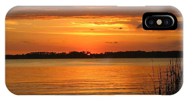 Setting Sun In Mount Dora IPhone Case