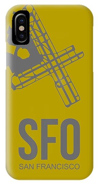 San Francisco iPhone Case - Sfo San Francisco Airport Poster 2 by Naxart Studio