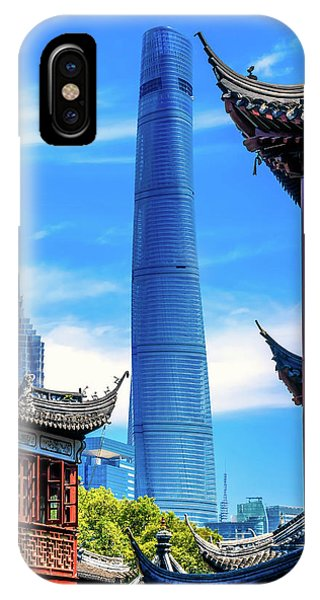 Shanghai Tower, Second Tallest Building Phone Case by William Perry