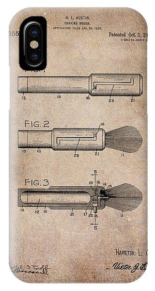Shaving Brush Diagram 1920  IPhone Case