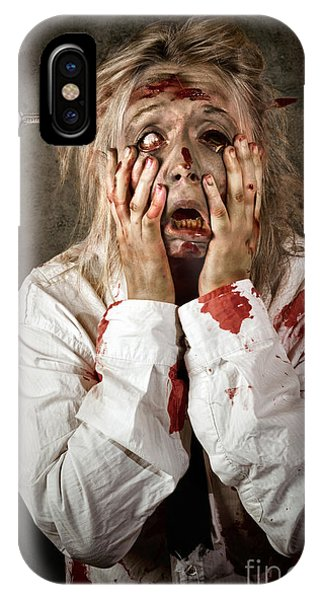 Ghastly iPhone Case - Shock Horror. Surprised Businesswoman Zombie by Jorgo Photography - Wall Art Gallery