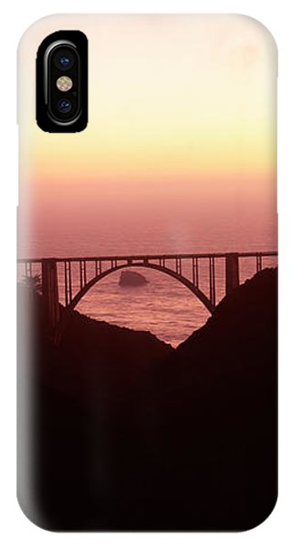 Silhouette Of A Bridge At Sunset, Bixby IPhone Case