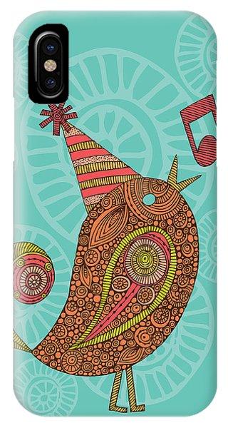 Teal iPhone Case - Singing Bird by Valentina Ramos