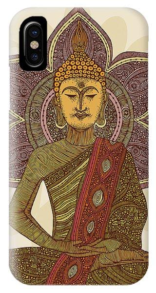 Buddhism iPhone Case - Sitting Buddha by Valentina Ramos