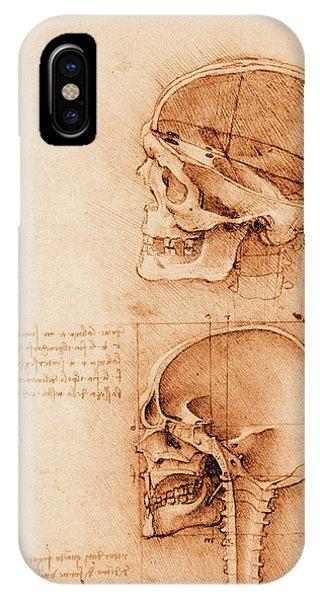 Skull Anatomy Phone Case by Mehau Kulyk