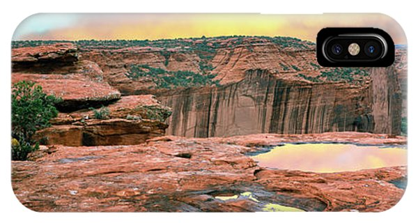Slickrock iPhone Case - Slickrock Waterpocket Pools Reflect by Panoramic Images