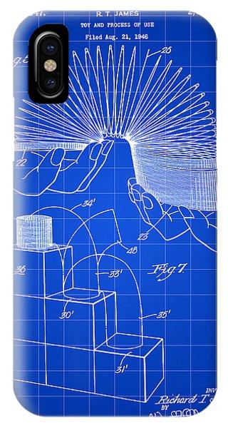 Slinky Patent 1946 - Blue IPhone Case