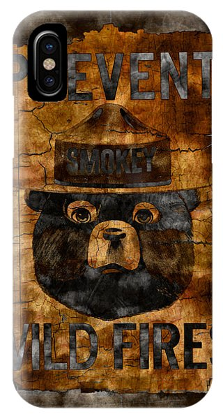 Smokey iPhone Case - Smokey The Bear Only You Can Prevent Wild Fires by John Stephens