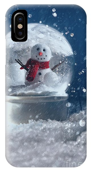Snow Globe In A Snowy Winter Scene IPhone Case