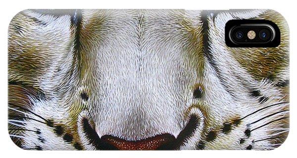Snow Leopard iPhone Case - Snow Leopard by Jurek Zamoyski