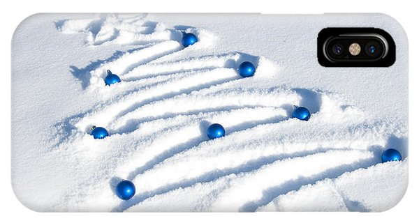 Christmas Tree iPhone Case - Snow Tree by Juli Scalzi