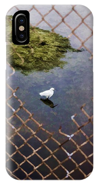 Snowy Egret  Phone Case by Photographic Art by Russel Ray Photos