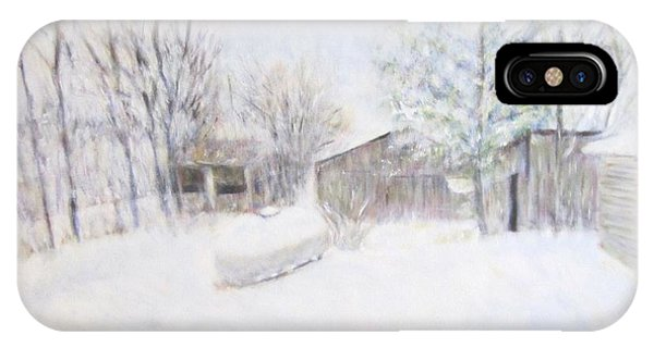 Snowy February Day IPhone Case