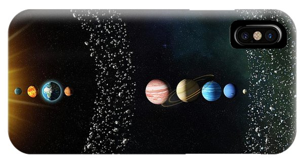 Earth Orbit iPhone Case - Solar System by Claus Lunau/science Photo Library