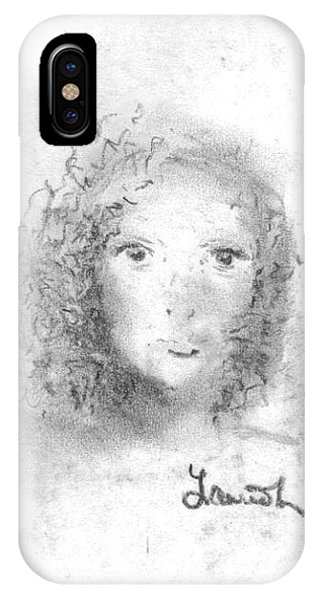 IPhone Case featuring the drawing Something About Mary by Laurie Lundquist