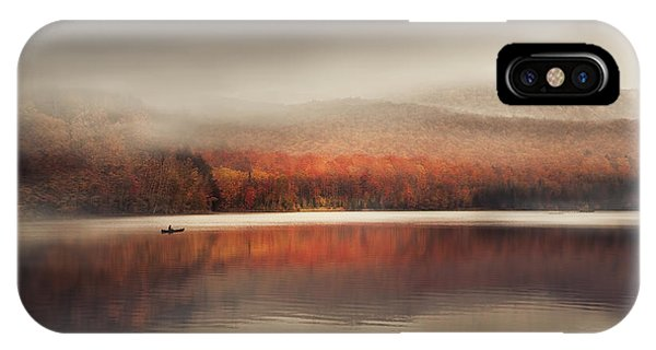 Pond iPhone Case - Sound Of Silence by Magda  Bognar