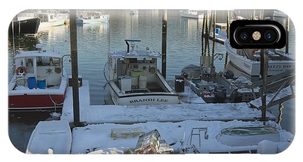 South Bristol And Fishing Boats On The Coast Of Maine IPhone Case