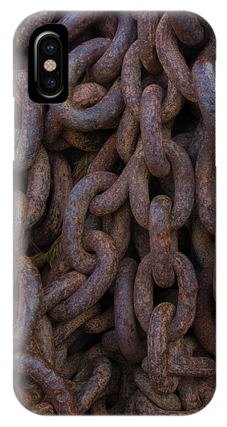 South Georgia Giant Rusted Chains Using Phone Case by Inger Hogstrom