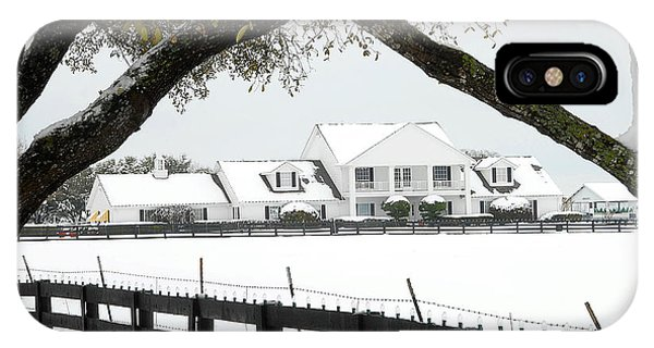 Southfork Ranch In Winter IPhone Case