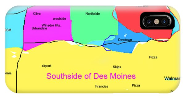Southsiders View Of Des Moines IPhone Case