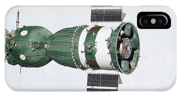 Spaceflight iPhone Case - Soyuz 19 In Orbit by Nasa