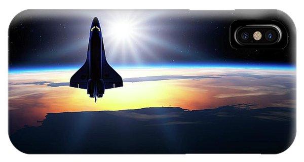 Space Shuttle In Orbit IPhone Case