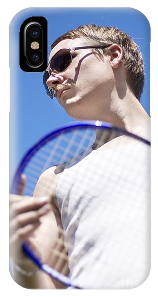 Racquet iPhone Case - Sporting A Racquet by Jorgo Photography - Wall Art Gallery