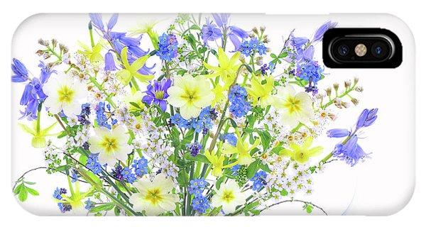 Bouquet iPhone Case - Spring Bouquet by Jacky Parker