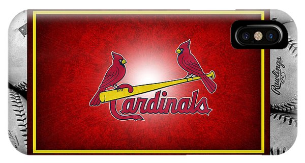 Diamond iPhone Case - St Louis Cardinals by Joe Hamilton