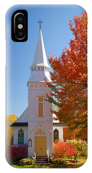 St Matthew's In Autumn Splendor IPhone Case