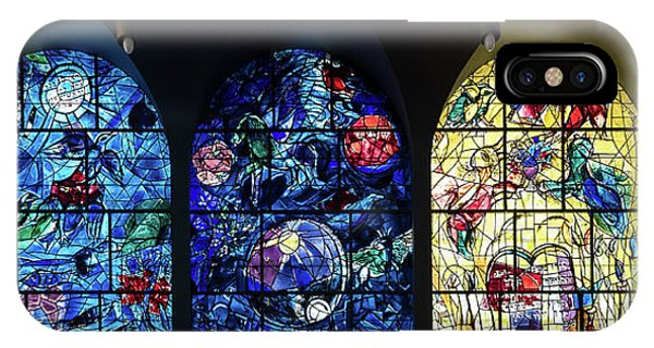Human Interest iPhone Case - Stained Glass Chagall Windows by Panoramic Images