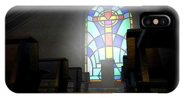 Beam iPhone Case - Stained Glass Window Church by Allan Swart